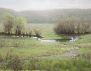 """Spring Stream, Proverbs 27:9"", 11x14, oil on linen"