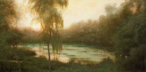 """Evening Glow - Proverbs 4:25-26""  12x24 oil on linen"