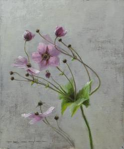 """Japanese Anemones, Proverbs 4:7"" 8x10 oil on linen"
