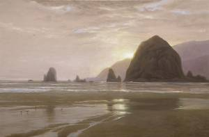 """Pacific Eventide, Proverbs 1:2-6"" 20x30 oil on linen"