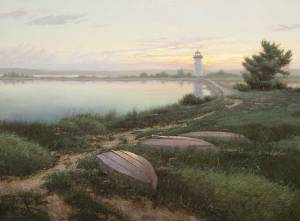 """Dawn's Early Light, 2 Samuel 23:4"" 30x40 oil on linen"