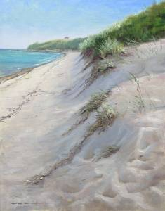 """Dunes of Menemsha, Proverbs 4:10-12"" 12x16 oil on linen"