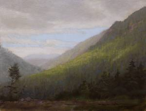 """The Notch, Proverbs 22:19"" 9x12 oil on linen,"