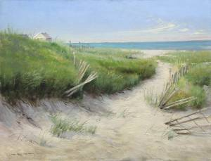 """Beach Fence, Proverbs 4:23"" 11x14 oil on linen"