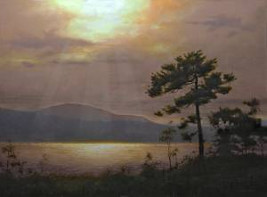"""Light by the Lake, Proverbs 8:17""  30x40 Oil"