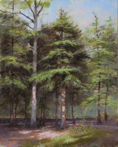 """Hemlocks Grove, 2 Corinthians 8:7"" 9x12 oil"