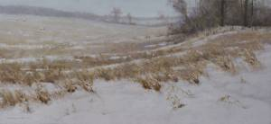"""First Snow"" ,16x36,  oil on linen"