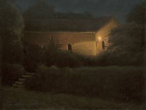 """Chapel Nocturne, Proverbs 15:30"" 9x12 oil on linen"