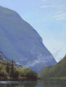"""Morning's Lift  - Crawford's Notch"", 9x12, oil on linen"