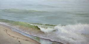 """Rip Tide on the South Shore, Proverbs 27:9"" 15x30 Oil on Linen"